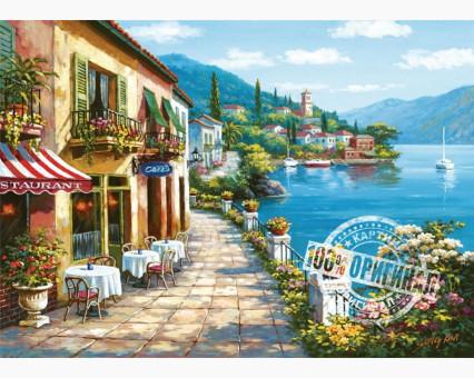 VP017 картина по номерам Уютное кафе DIY Babylon фото набора