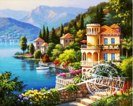 VP019 картина по номерам Цветущее побережье DIY Babylon фото набора