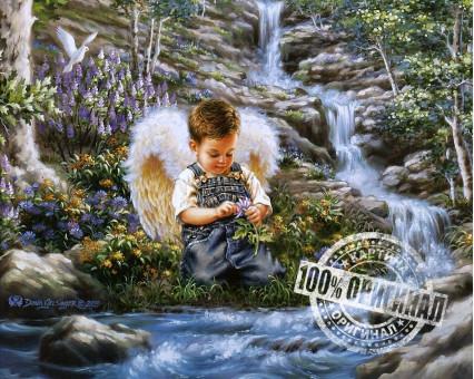 VP029 картина по номерам Ангел у ручья DIY Babylon фото набора