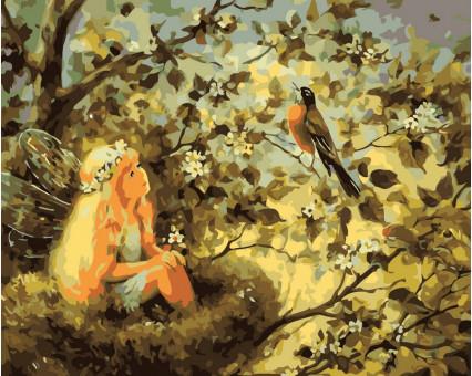 VP030 картина по номерам Маленькая фея DIY Babylon