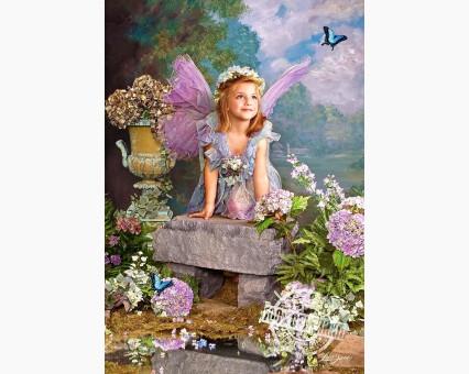 VP032 картина по номерам Весенний ангел DIY Babylon фото набора