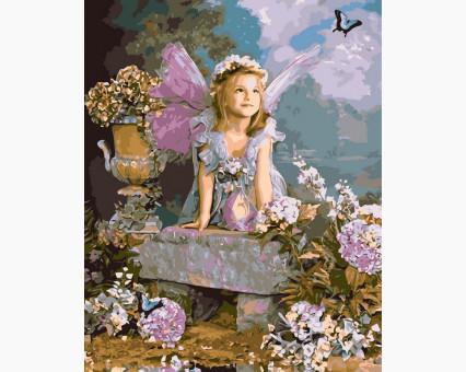 VP032 картина по номерам Весенний ангел DIY Babylon