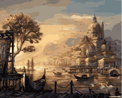 VP051 картина по номерам Вечерняя Венеция DIY Babylon
