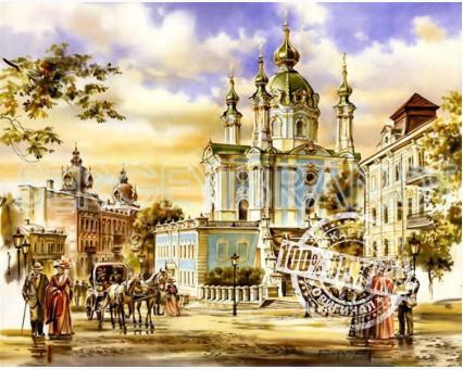 VP051new картина по номерам Андреевская церковь DIY Babylon