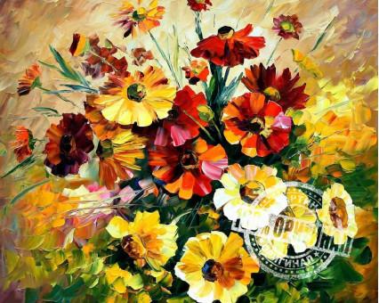 VP057 картина по номерам Букет ярких цветов DIY Babylon