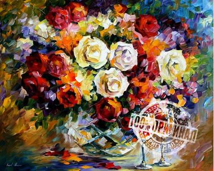 VP063 картина по номерам Розы и вино DIY Babylon фото набора