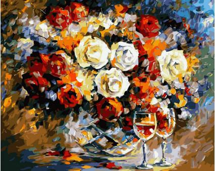 VP063 картина по номерам Розы и вино DIY Babylon