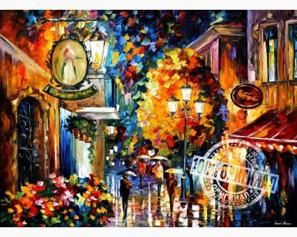 VP068 картина по номерам Кафе в старом городе DIY Babylon