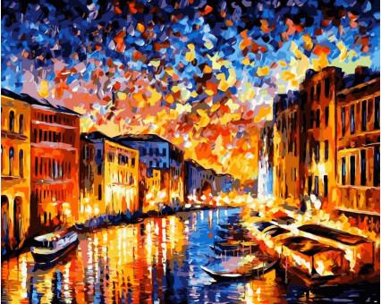 VP072 картина по номерам Ночная Венеция DIY Babylon