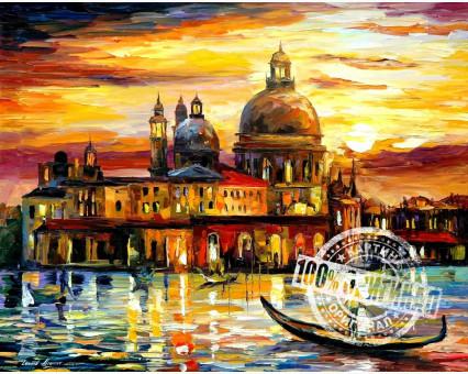 VP073 картина по номерам Золотое небо Венеции DIY Babylon