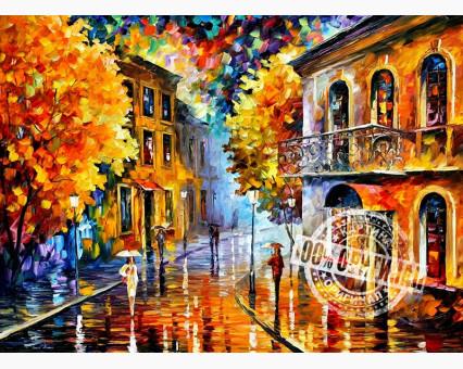 VP074 картина по номерам Осенний дождь DIY Babylon