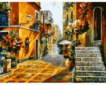 VP076 картина по номерам Солнце Сицилии DIY Babylon