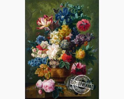 VP090 картина по номерам Цветы и гнездо DIY Babylon фото набора