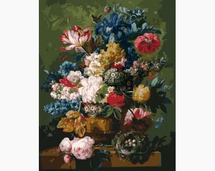 VP090 картина по номерам Цветы и гнездо DIY Babylon