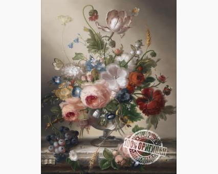 VP118 картина по номерам Цветочный натюрморт с виноградом DIY Babylon фото набора