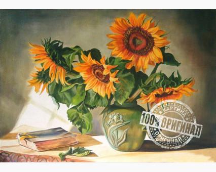 VP119 картина по номерам Солнечные цветы DIY Babylon фото набора