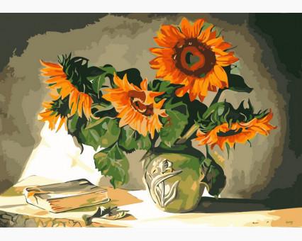 VP119 картина по номерам Солнечные цветы DIY Babylon
