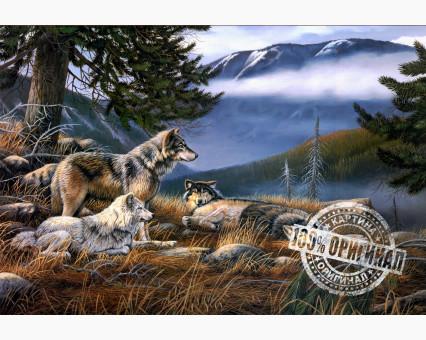 VP122 картина по номерам Волчье убежище DIY Babylon фото набора