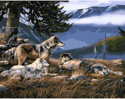 VP122 картина по номерам Волчье убежище DIY Babylon