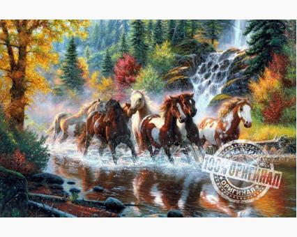 VP130 картина по номерам Дикие лошади DIY Babylon фото набора