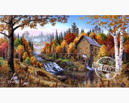 VP143 картина по номерам Дом в лесу DIY Babylon фото набора