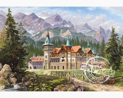 VP149 картина по номерам Замок Спящей красавицы DIY Babylon фото набора