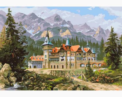 VP149 картина по номерам Замок Спящей красавицы DIY Babylon