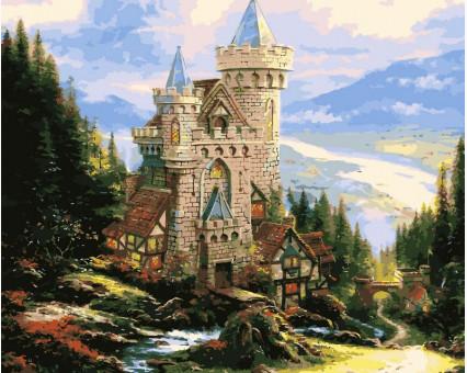 VP150 картина по номерам Старинный замок DIY Babylon