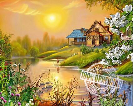 VP164 картина по номерам Солнечный весенний день DIY Babylon фото набора