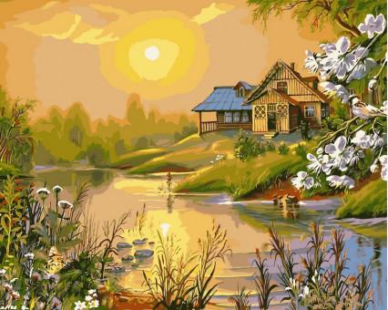 VP164 картина по номерам Солнечный весенний день DIY Babylon