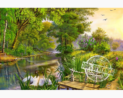 VP167 картина по номерам У реки DIY Babylon фото набора