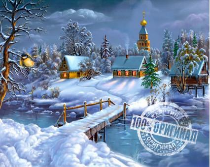 VP169 картина по номерам Зимняя сказка DIY Babylon фото набора