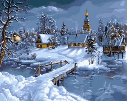 VP169 картина по номерам Зимняя сказка DIY Babylon
