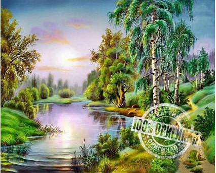 VP176 картина по номерам У озера DIY Babylon фото набора