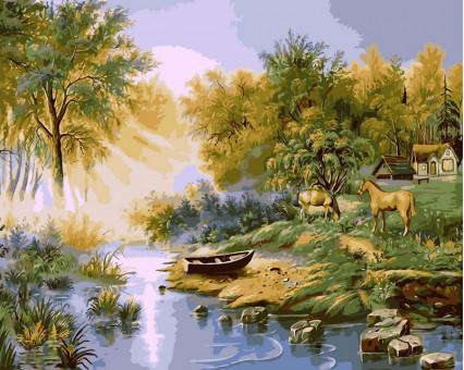 VP178 картина по номерам На ярком солнышке DIY Babylon