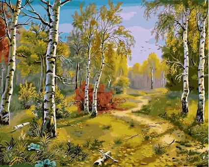 VP180 Картина по номерам Тропинка в лесу Babylon