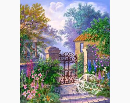 VP183 картина по номерам Калитка в сад DIY Babylon фото набора