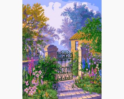 VP183 картина по номерам Калитка в сад DIY Babylon