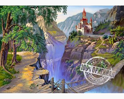 VP184 картина по номерам Мост к сказочному замку DIY Babylon