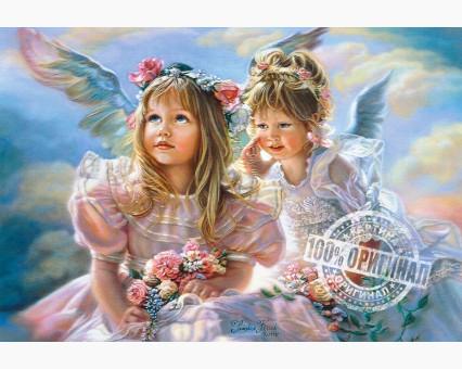 VP204 картина по номерам Ангелочки DIY Babylon
