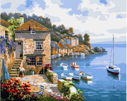 VP211 картина по номерам Дом на берегу океана DIY Babylon