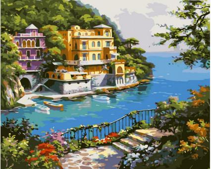 VP212 картина по номерам Нарисованный рай DIY Babylon