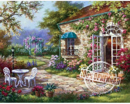 VP230 картина по номерам Летний день DIY Babylon фото набора