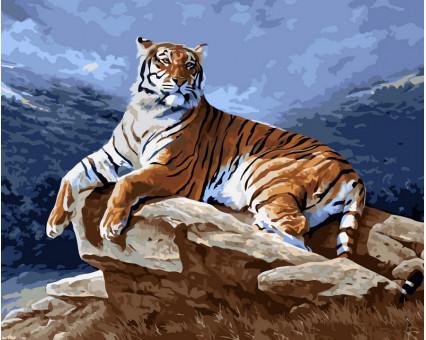 VP239 картина по номерам Тигр на рассвете DIY Babylon