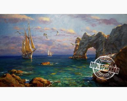 VP251 картина по номерам Жаркое лето Крыма DIY Babylon фото набора
