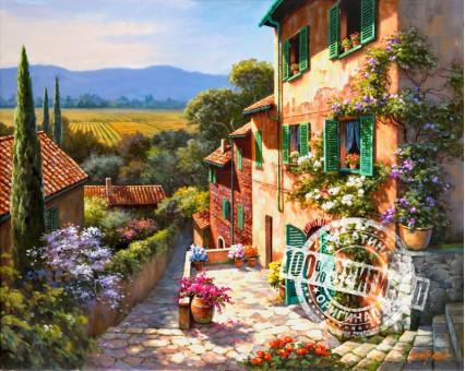 VP252 картина по номерам Тосканский пейзаж DIY Babylon фото набора