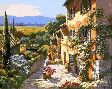 VP252 картина по номерам Тосканский пейзаж DIY Babylon