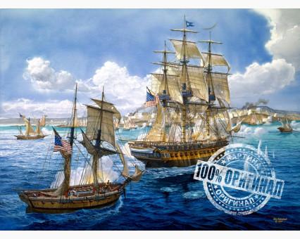 VP259 картина по номерам Морское сражение DIY Babylon фото набора