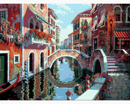 VP264 картина по номерам Полдень в Венеции DIY Babylon