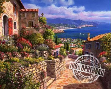 VP268 картина по номерам Тосса дель Мар, Испания DIY Babylon фото набора